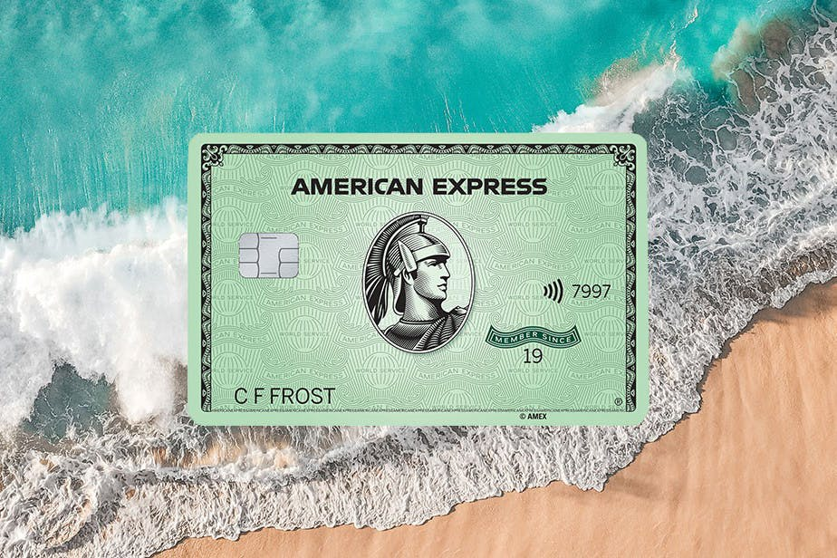 American Express Green Card with Recycled Plastic